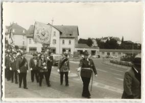Schützenfest in Montabaur 1963, Schützengesellschaft Ransbach, an der Spitze Präsident Lamp