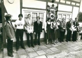 Horst Klöckner, Schützenkönig 1979 mit Willi Reiser und Winfried Radke