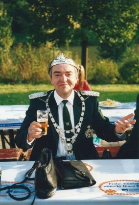 Der noch amtierende Schützenkönig Norbert Keller von 1992