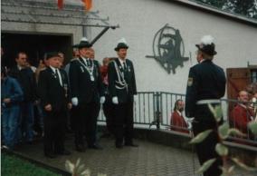 Werner Kaspar, Schützenkönig 1995 mit Uwe Dietert und Josef Schräder
