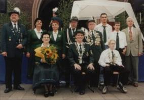 Alexander Keiner, Schützenkönig 1998 mit Wolfgang Pehl und Fred Müller