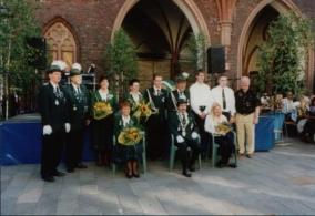 Peter Ulbricht, Schützenkönig 1999 mit Thomas Ulbricht und Wolfgang Pehl