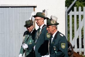 Der scheidende Schützenkönig von 2017 bei der Übergabe der Königswürden 2018: Klaus Schäfer