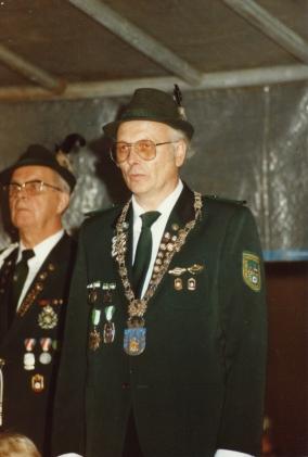 Der Jubiläums-Schützenkönig Werner Hölzgen