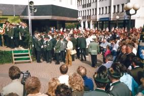 37. Rheinischer Schützentag in Montabaur 1988 - Parade durch die Stadt