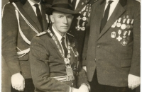 Schützenkönig Hans Strüber mit Gefolge, 1959