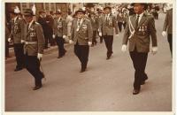 Schützenparade mit Schützenkönig Werner Flach, 1958