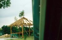 Richtfest beim Bau der Grillhütte