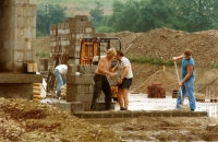 Bau der Schießsportanlage am Alten Galgen, 1984