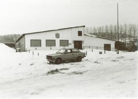 Schützenhaus bei Schnee