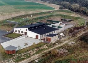 Die Schießsportanlage am Alten Galgen in Montabaur von oben