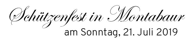 Schützenfest in Montabaur am Sonntag, den 21. Juli 2019